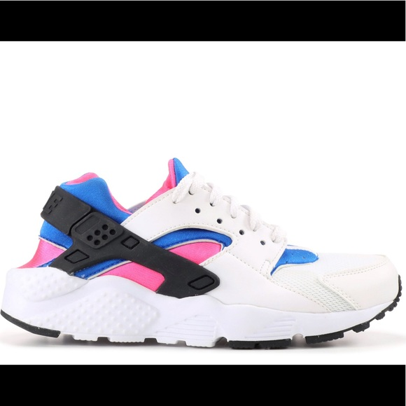 buy online 1443b f6dde Pink blue and white nike huaraches